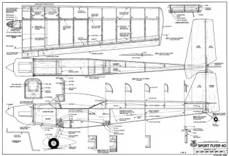Sport Flyer 40-RCM-11-89 1055 model airplane plan