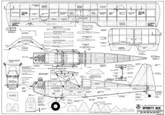 Sporty Ace-RCM-02-79 752 model airplane plan