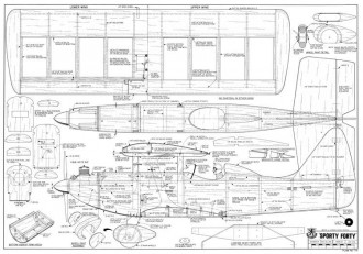 Sporty Forty model airplane plan