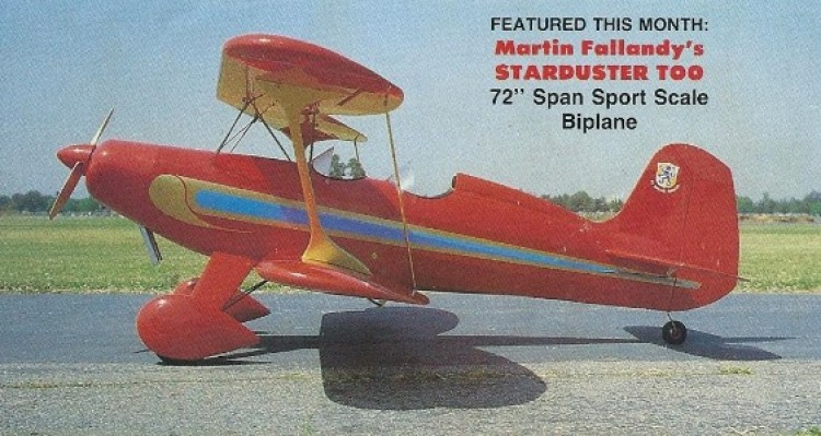 Starduster Too model airplane plan