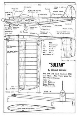 Sultan model airplane plan