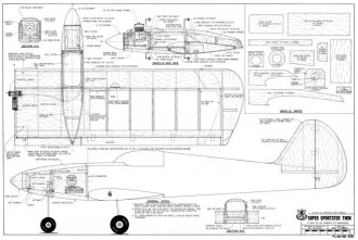 Super Sportster Twin model airplane plan