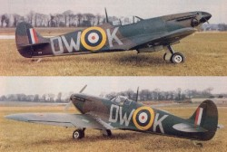 Supermarine Spitfire MK I model airplane plan