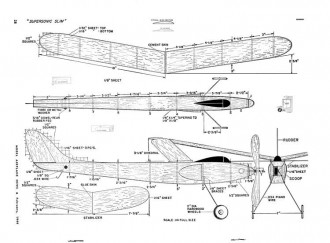 Supersonic Slim-MAN-02-49 model airplane plan