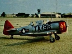 T-6F Texan model airplane plan
