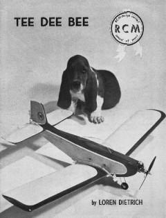 Tee Dee Bee model airplane plan