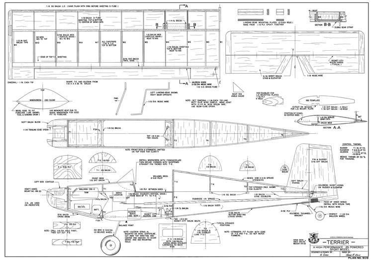 Terrier model airplane plan