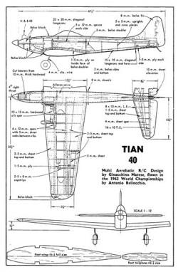 Tian 40 model airplane plan