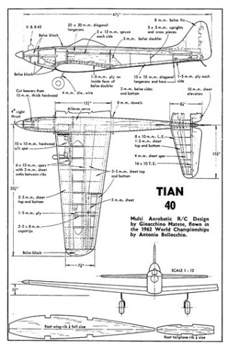 Tian 40 model airplane plan