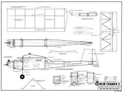 RCM Trainer 5 model airplane plan