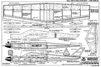 Undertaker RCM-885 model airplane plan