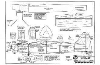 Upstart RCM-459 model airplane plan