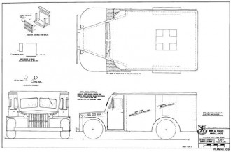 WW II Mash Ambulance model airplane plan