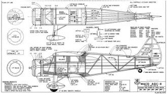Waco AGC-8 model airplane plan