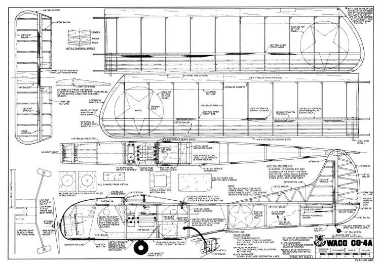 Waco CG-4A model airplane plan