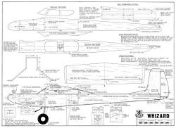 Whizard model airplane plan