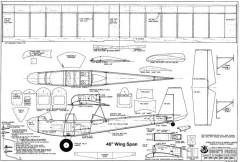 Woodys Pusher model airplane plan