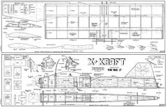 X-Craft 24in model airplane plan