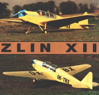 Zlin XII model airplane plan