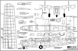 B-24 model airplane plan