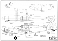 BF 109E model airplane plan