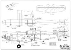 BF 109E model airplane plan