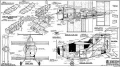 Bumble Bee 1 meter span model airplane plan