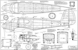 Cessna UC-78 Bobcat model airplane plan