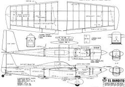 El Bandito model airplane plan