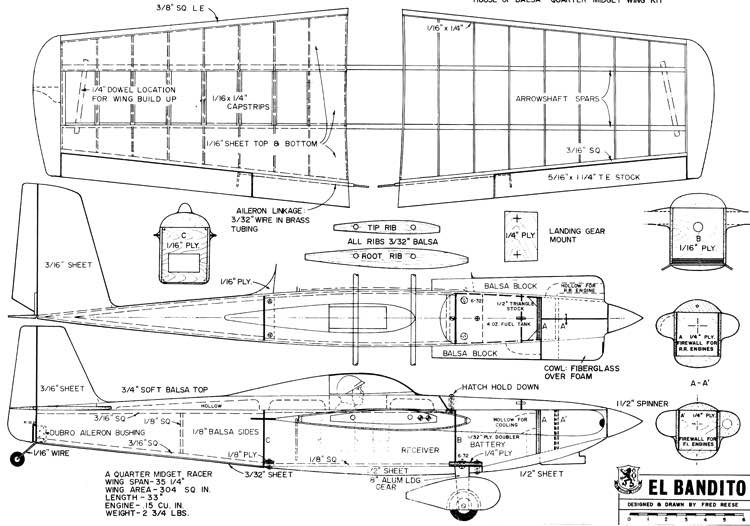 El Bandito model airplane plan
