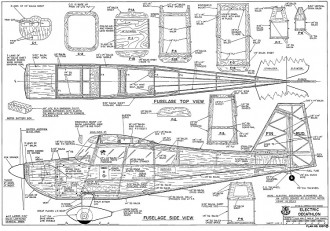 RCM Electric Decathlon <128cm span> model airplane plan