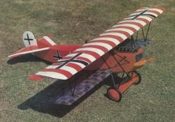 Fokker D-VII model airplane plan