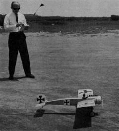 Fokker E III Eindecker model airplane plan