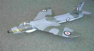 "Hawker Hunter 46"" model airplane plan"