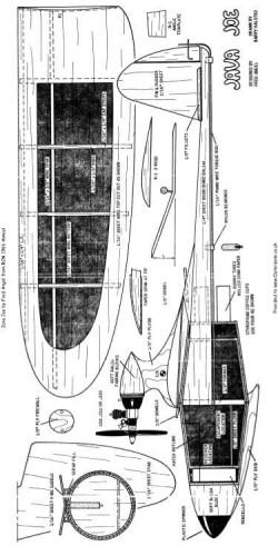 Java Joe model airplane plan