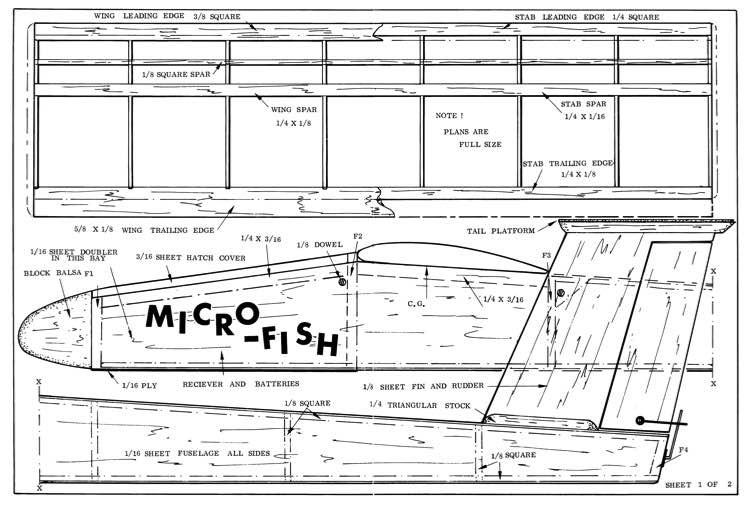 Micro Fish model airplane plan
