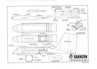 Saracen model airplane plan