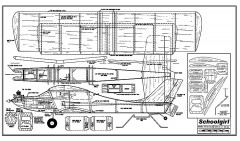 Schoolgirl 48 in model airplane plan