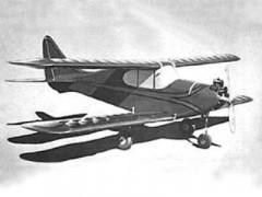 Stagger Bi MK III model airplane plan
