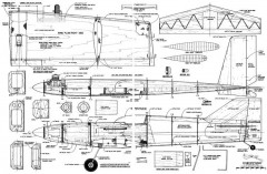 Vector 55in model airplane plan