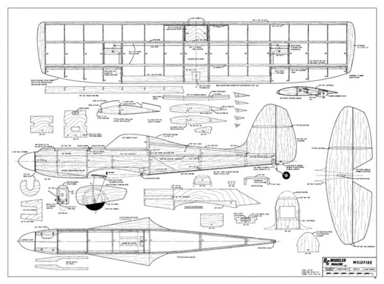Wildfire model airplane plan