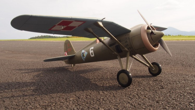 PZL P-11c (30% Scaled up) model airplane plan