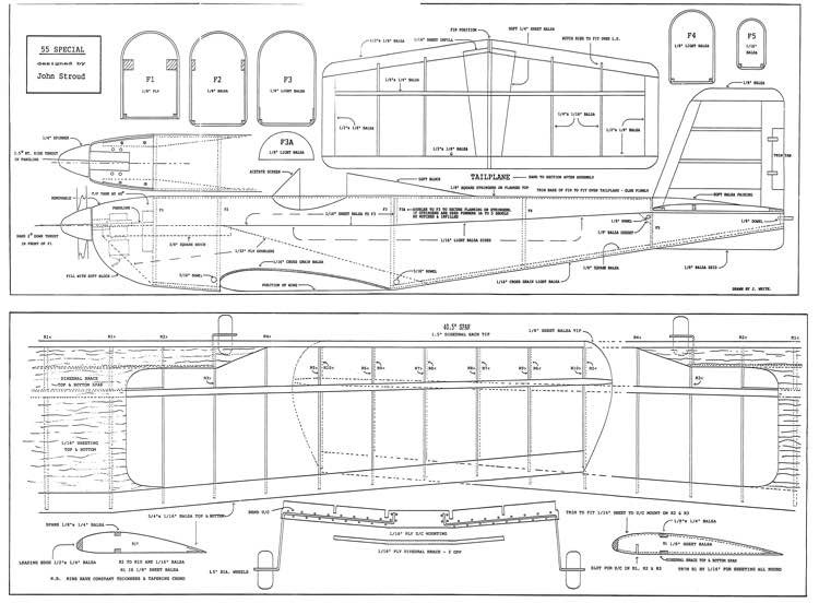 55 Special model airplane plan