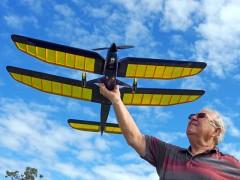 Bi-play model airplane plan