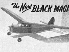Black Magic model airplane plan