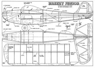 Breezy Junior model airplane plan