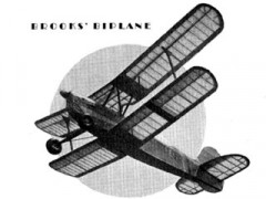 Brooks Biplane model airplane plan