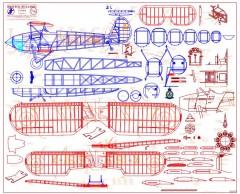 Bristol Bulldog model airplane plan