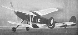 Cabin Biplane model airplane plan