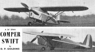 Comper Swift model airplane plan